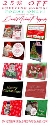 25 Percent Off All Greeting Cards Today, November 16, 2020